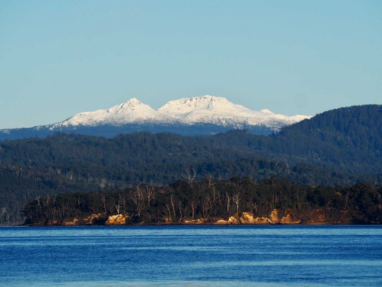 Hartz Mountains from the Huon River